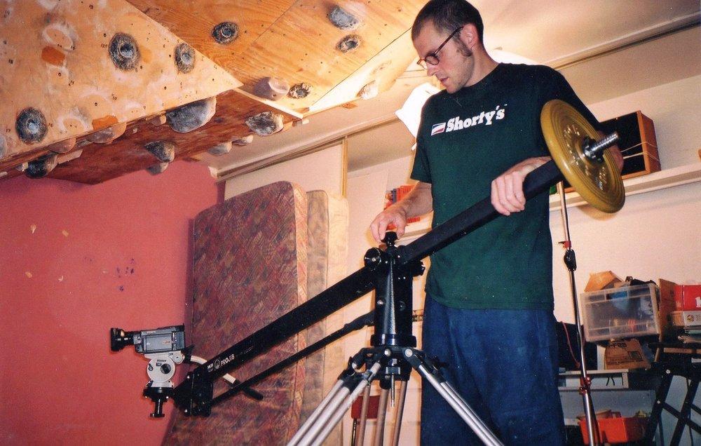 Ben Pritchard filming 'Splinter' 2000