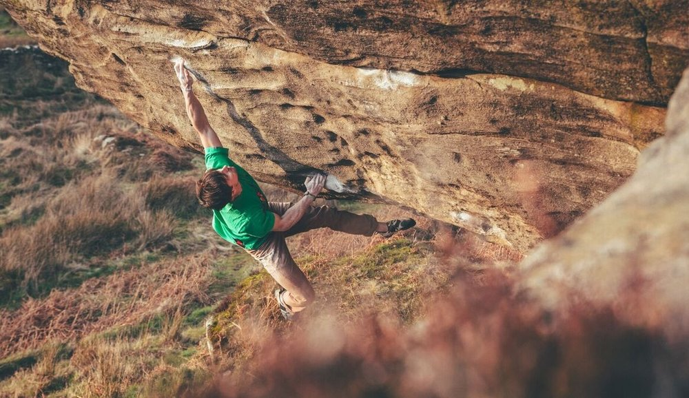 Dan Turner on Bloodsport V13 Photo: Rowan Spear-Bulmer
