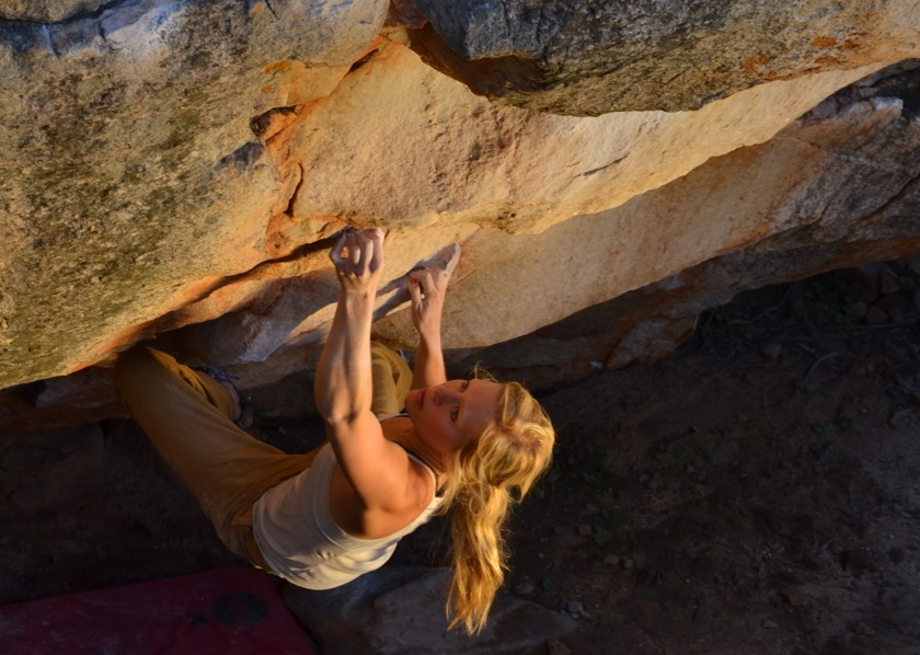 The Amphitheater V12, Rocklands, Photo: Dave Mason
