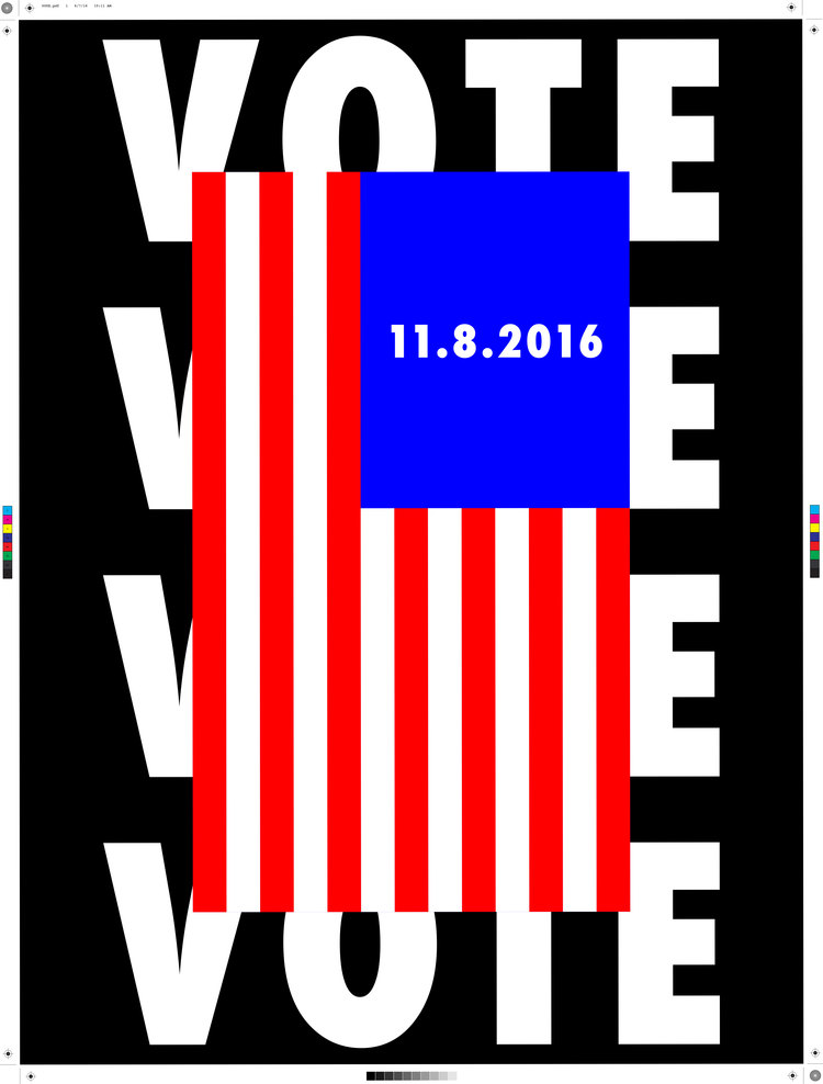 "18 x 24"" poster designed for AIGA's Get Out the Vote 2016 Campaign"