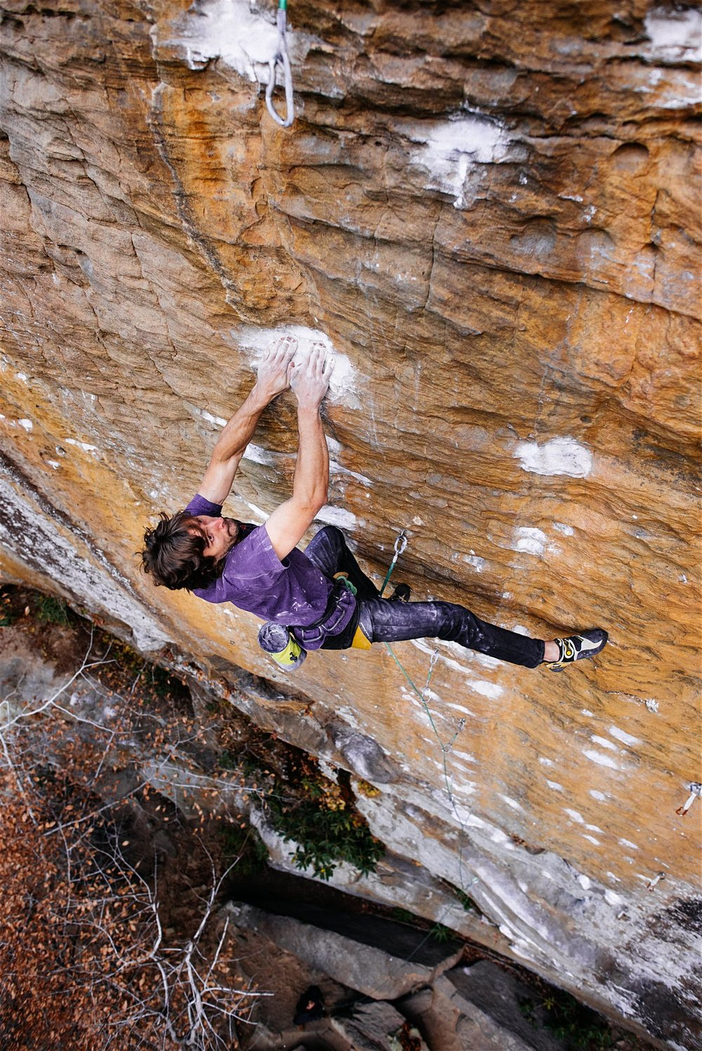 Golden Boy 8a, RRG. Photo: Andy Wickstrom