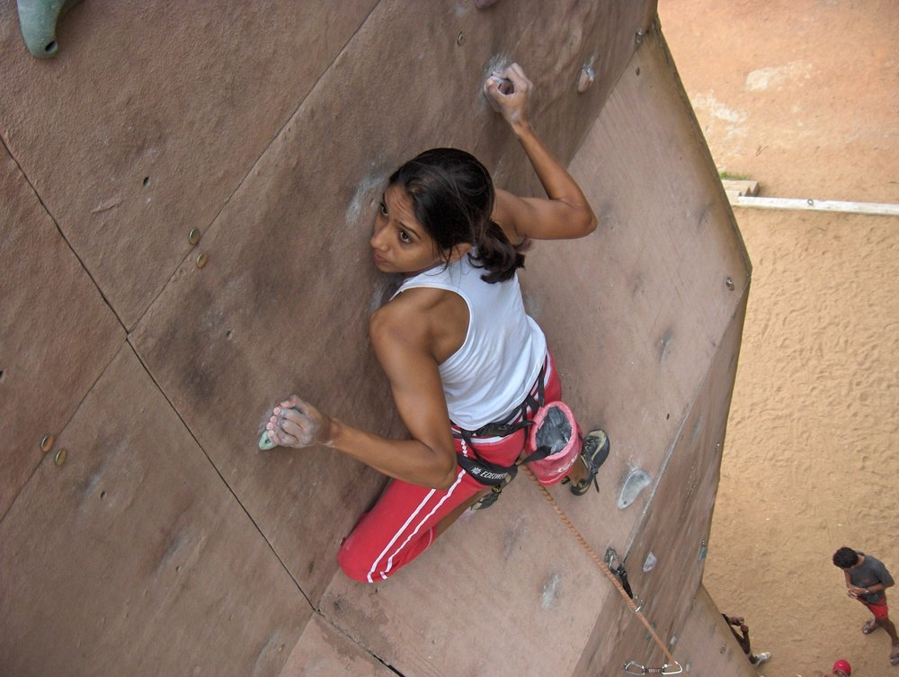 Archana Jadav training, circa 2005, for World Championships 2.jpg