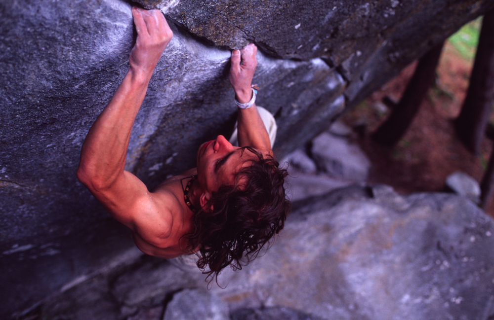 Bernd Zangerl,  New Base Line  Font 8b+ (V14). Photo:  Beat Kammerlander