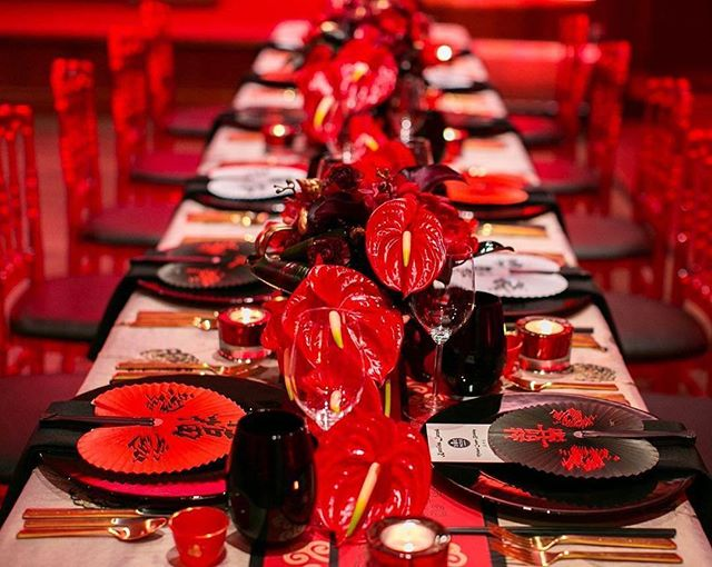 """Beautiful table setting by @candice_alison """"Secret Chinatown"""" #patoiscatering #chinatown #torontoevents"""