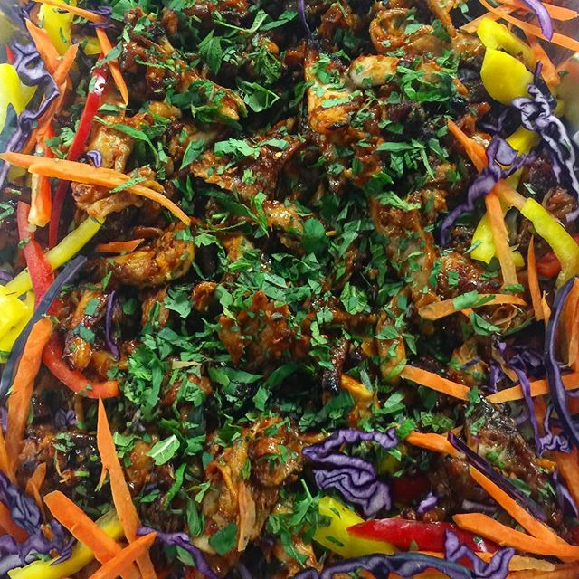 Fresh & Delicious! Spicy Chicken Glass Noodle Salad! #catering #patoiscatering #torontofood #torontocaterer
