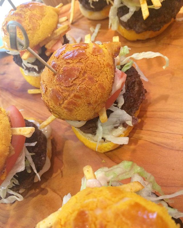 Mini #Pineapplebun #Burgers from tonight's #catering 🍍🍍🍍🍔🍔 #bolobao #patoiscatering #summerfood #cateringtoronto