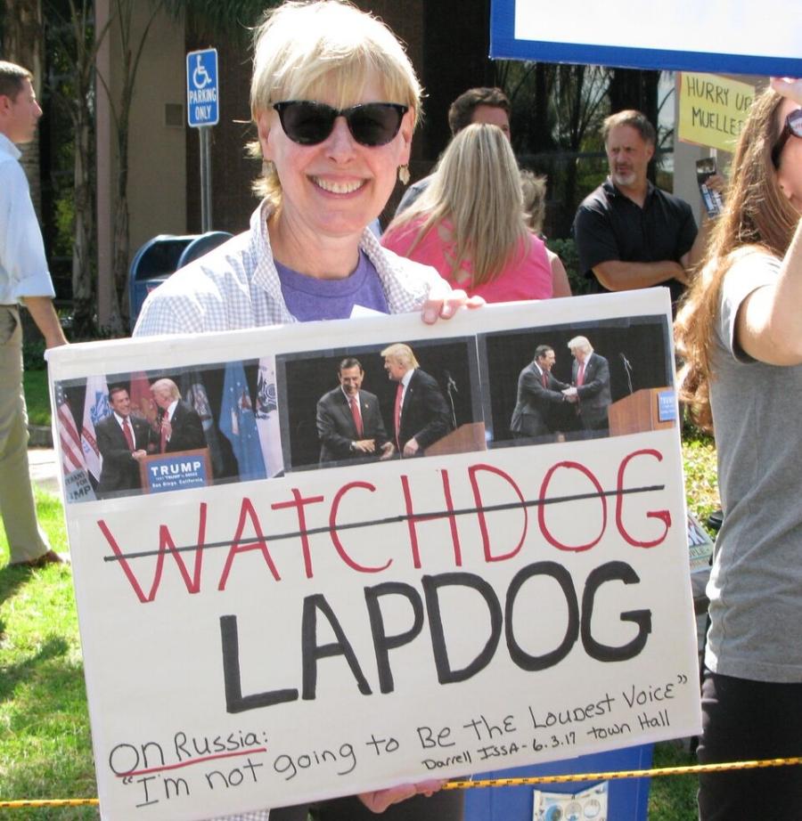 Issa, Trump's Lapdog Rally - Vista - August 1, 2017
