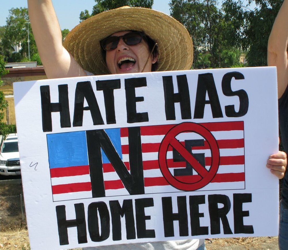 No To Racism Rally - Escondido - August 19, 2017