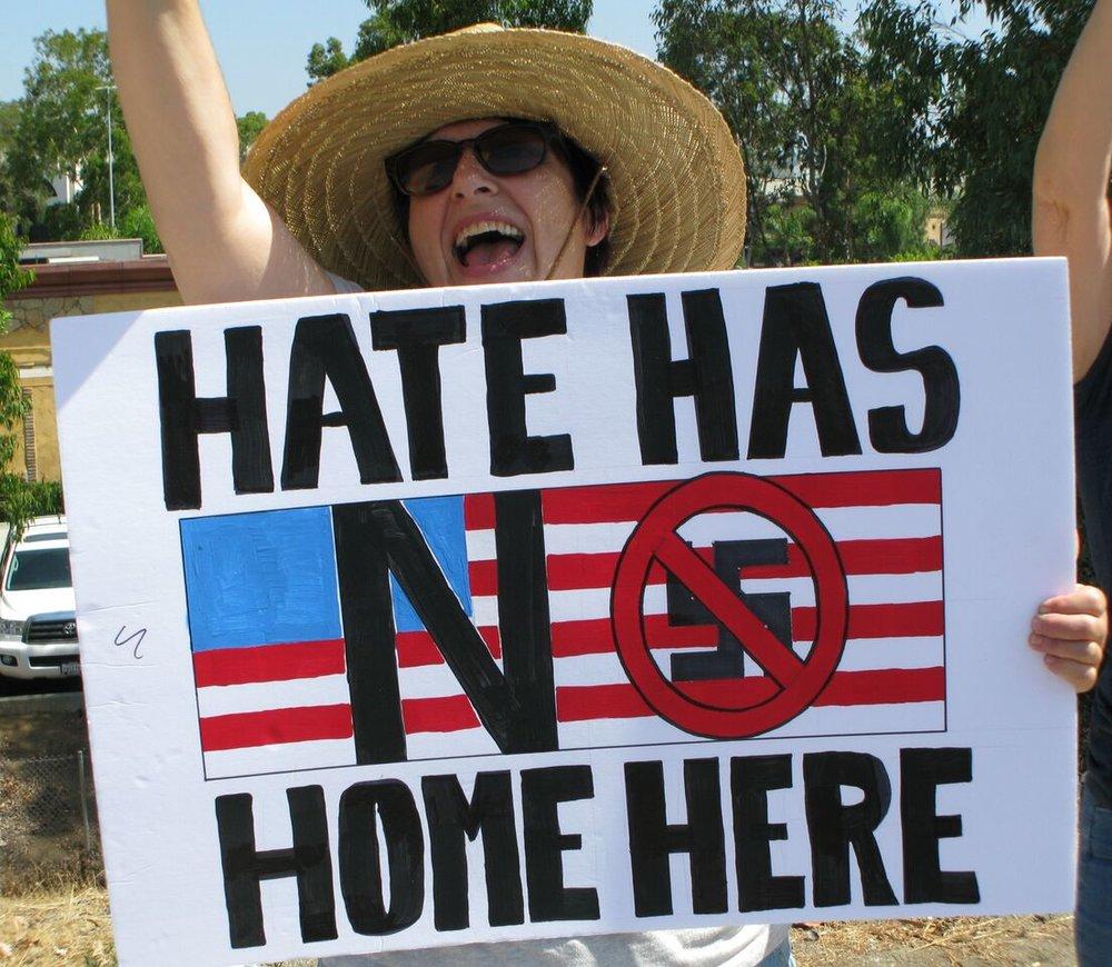 No To Racism Rally - Escondido - August 19, 2017