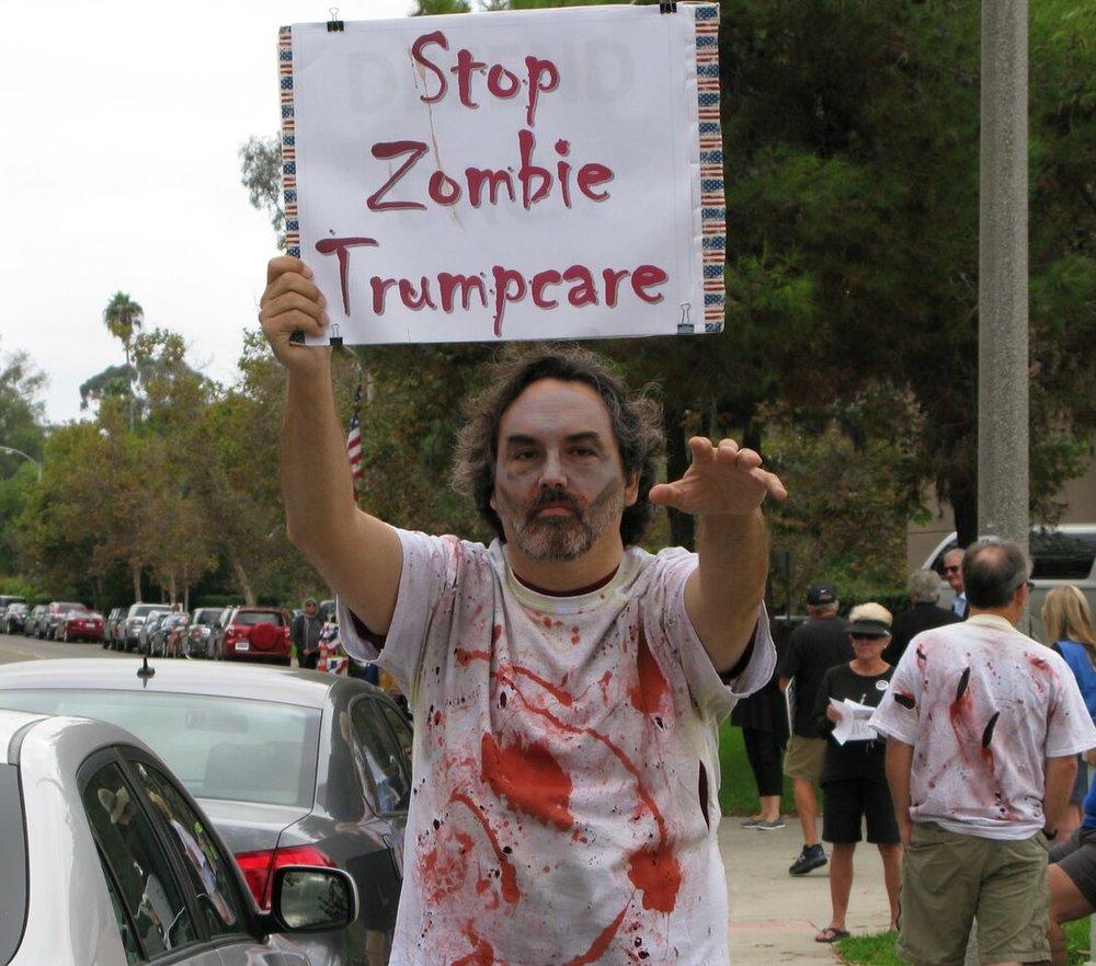 Zombie Trumpcare Rally - Vista - September 19, 2017