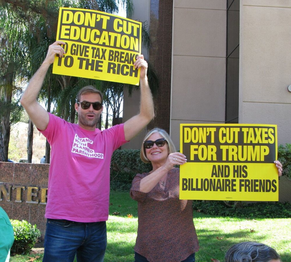 Rapid Response Rally - No Cuts to Medicare/Medicaid - Vista - October 5, 2017