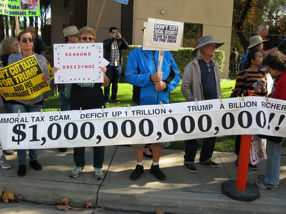 Tax Scam Rally - Vista - December 5, 2017
