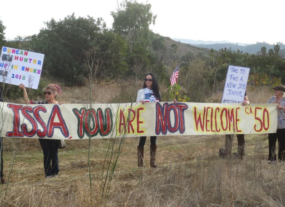 "Our Friends in District 50 - ""Issa, You Are Not Welcome!"" - Fallbrook - January 16, 2018"