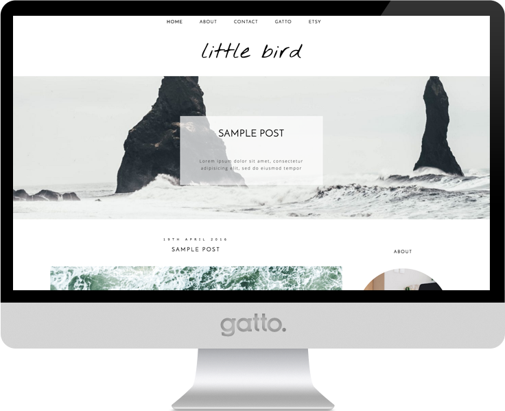 little-bird-theme-screen-mockup