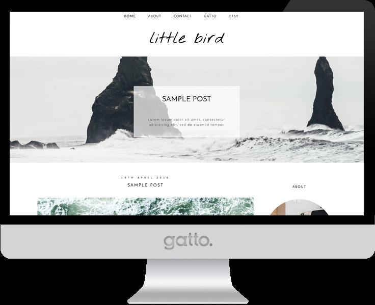 little-bird-theme-screen-mockup