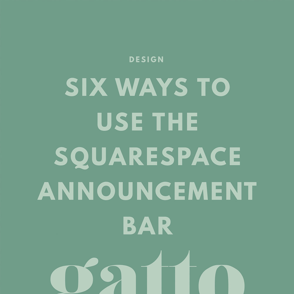 Squarespace | Announcement Bar | Website Design | Creative Business | Small Bix