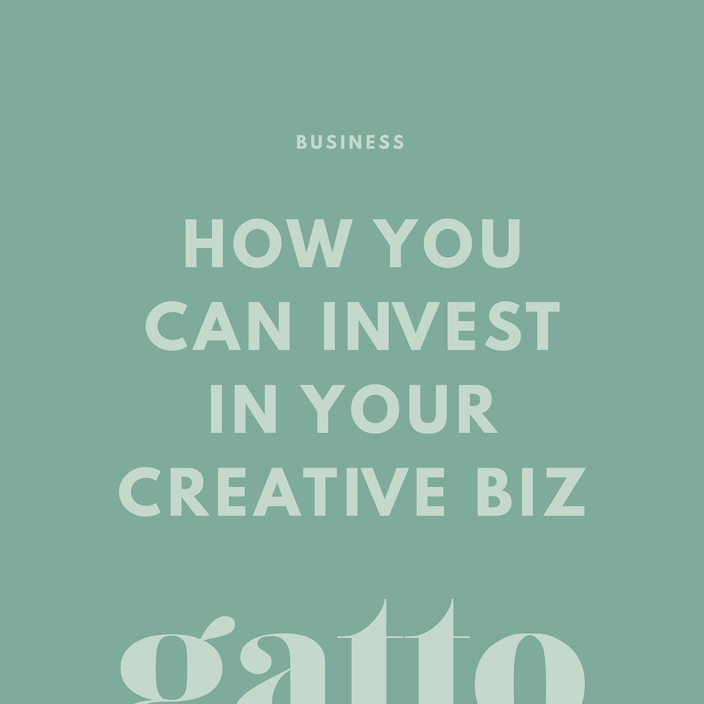Investing in your Creative Business | Invest Small Biz | Branding Web Design