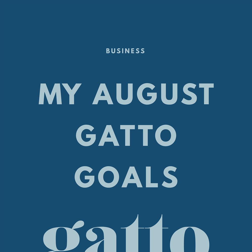August Gatto Goals | Business Goals | Targets and Organisation | Branding and Website Design Studio
