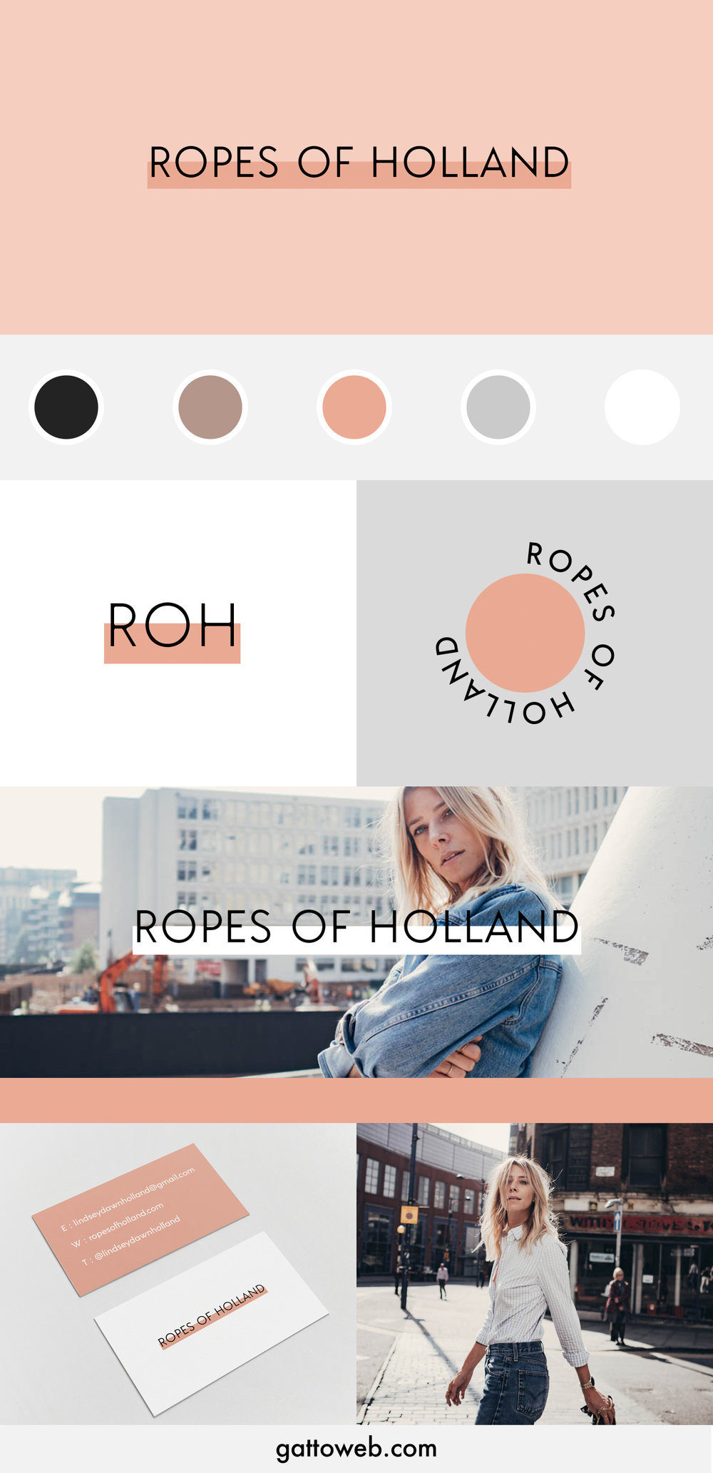 Ropes of Holland Branding Board | Peach Scandi Minimal Design | Gatto