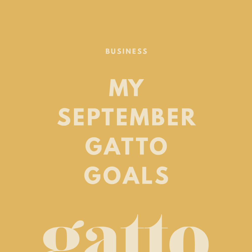 September Business Goals | August Recap | Creative Business Aims | Branding & Website Design