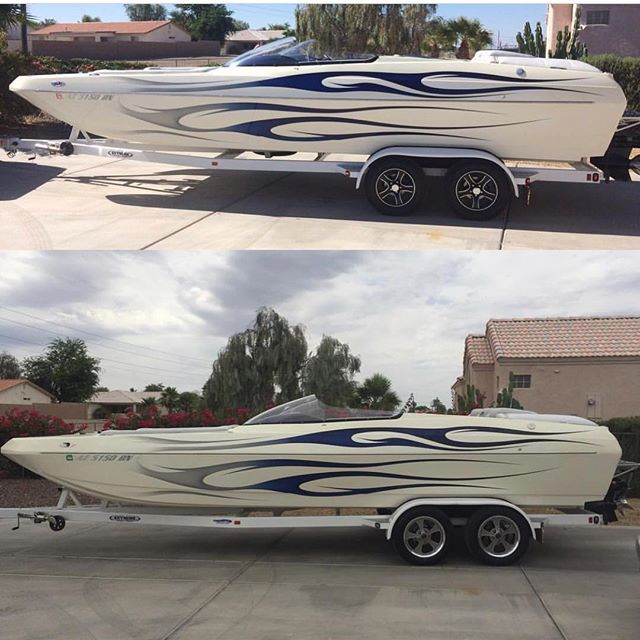 Ridler 645's! Looking killer on this boat trailer with a nice boat! 📸 @peat_me_off #ridlerwheels #ridler645 #boat #boattrailer