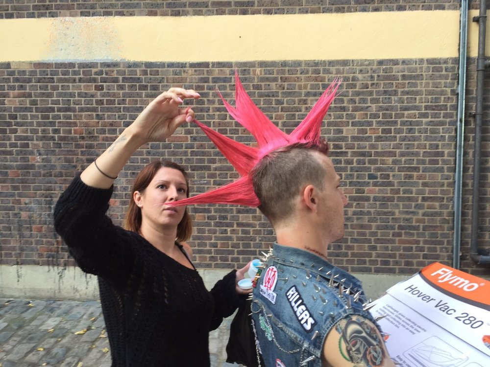 Antonia Trister (Toni) Doing her ting with that amazing hair…..