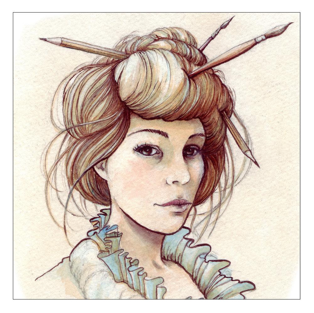 Karen Watson, illustrator | watercolor portrait by Karen Watson