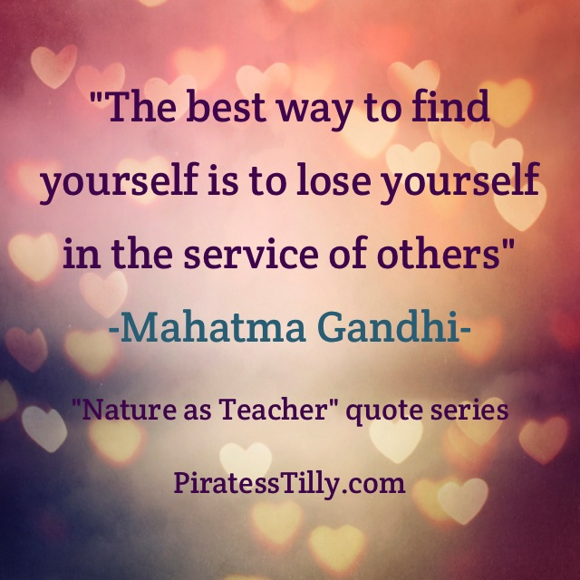 "Adventures of ""Piratess"" Tilly picture book, Mahatma Gandhi quote 2"