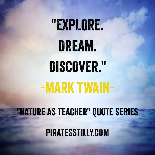"Adventures of ""Piratess"" Tilly picture book, Mark Twain Quote"