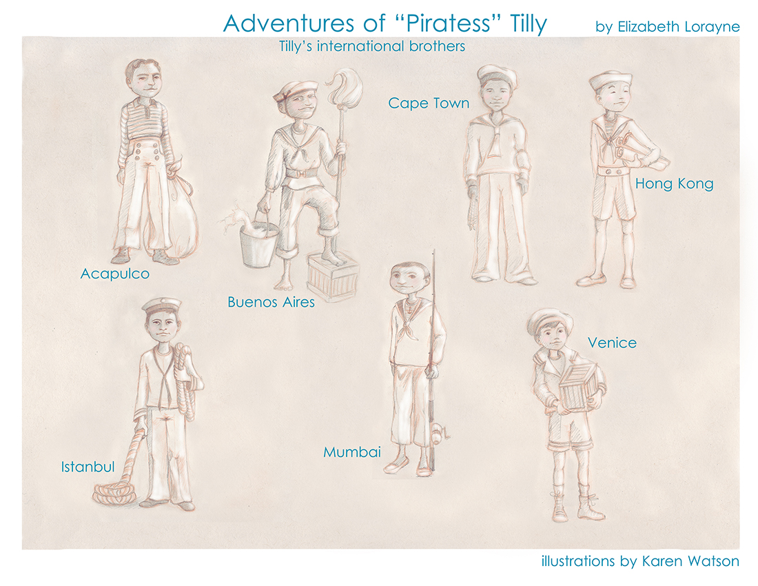 "Adventures of ""Piratess"" Tilly children's picture book, International Brothers meme"