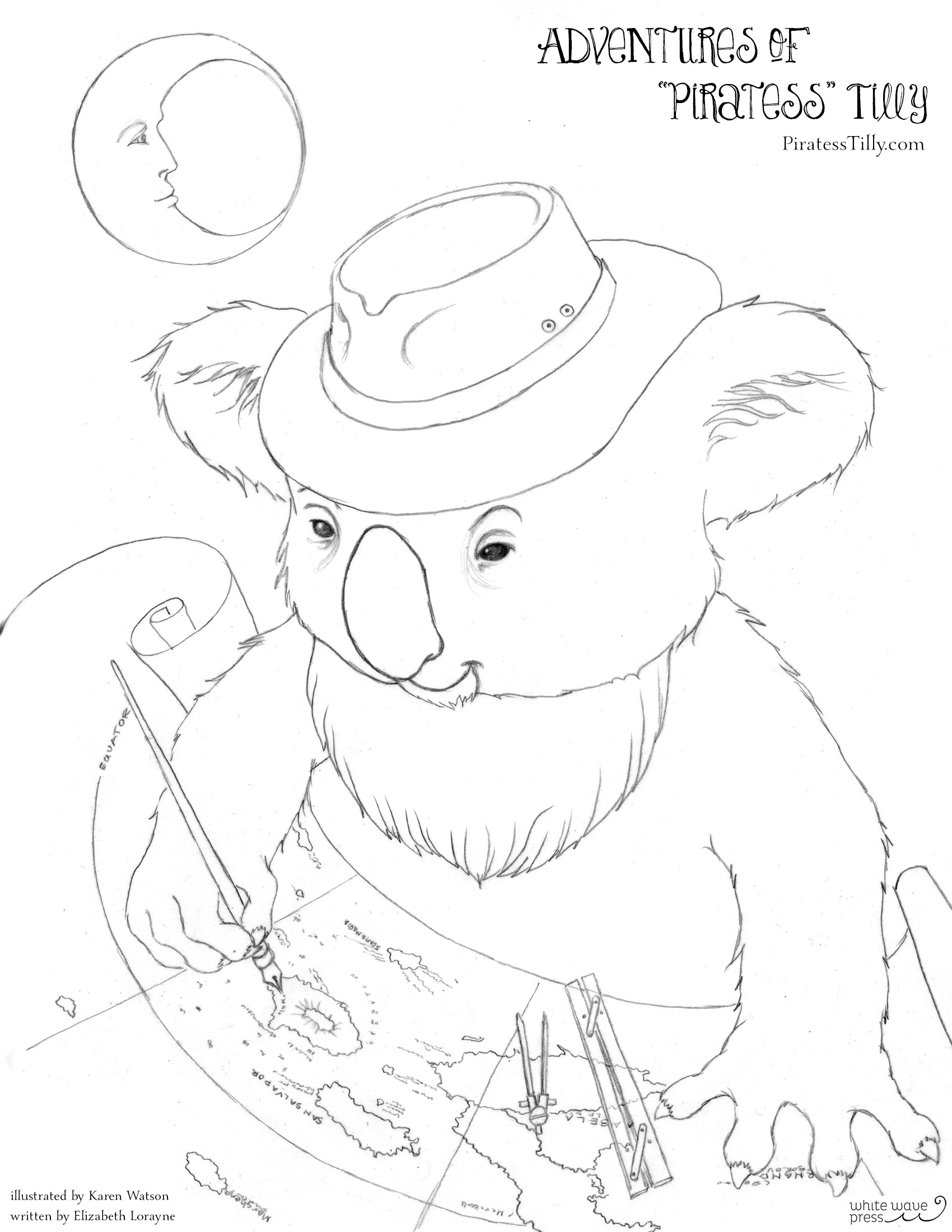 Piratess Tilly Free Coloring Page