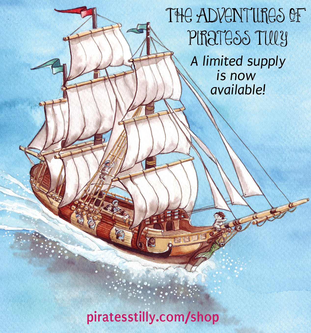 The Adventures of Piratess Tilly, children's picture book for sale