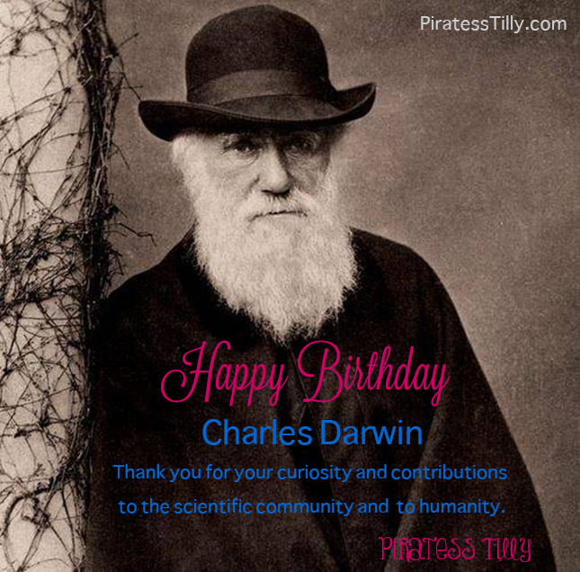 Piratess Tilly's Happy Birthday Charles Darwin