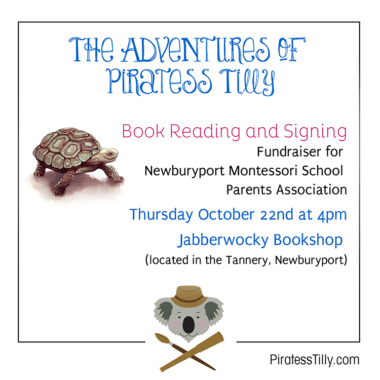 Piratess Tilly Jabberwocky book reading 10-22-15