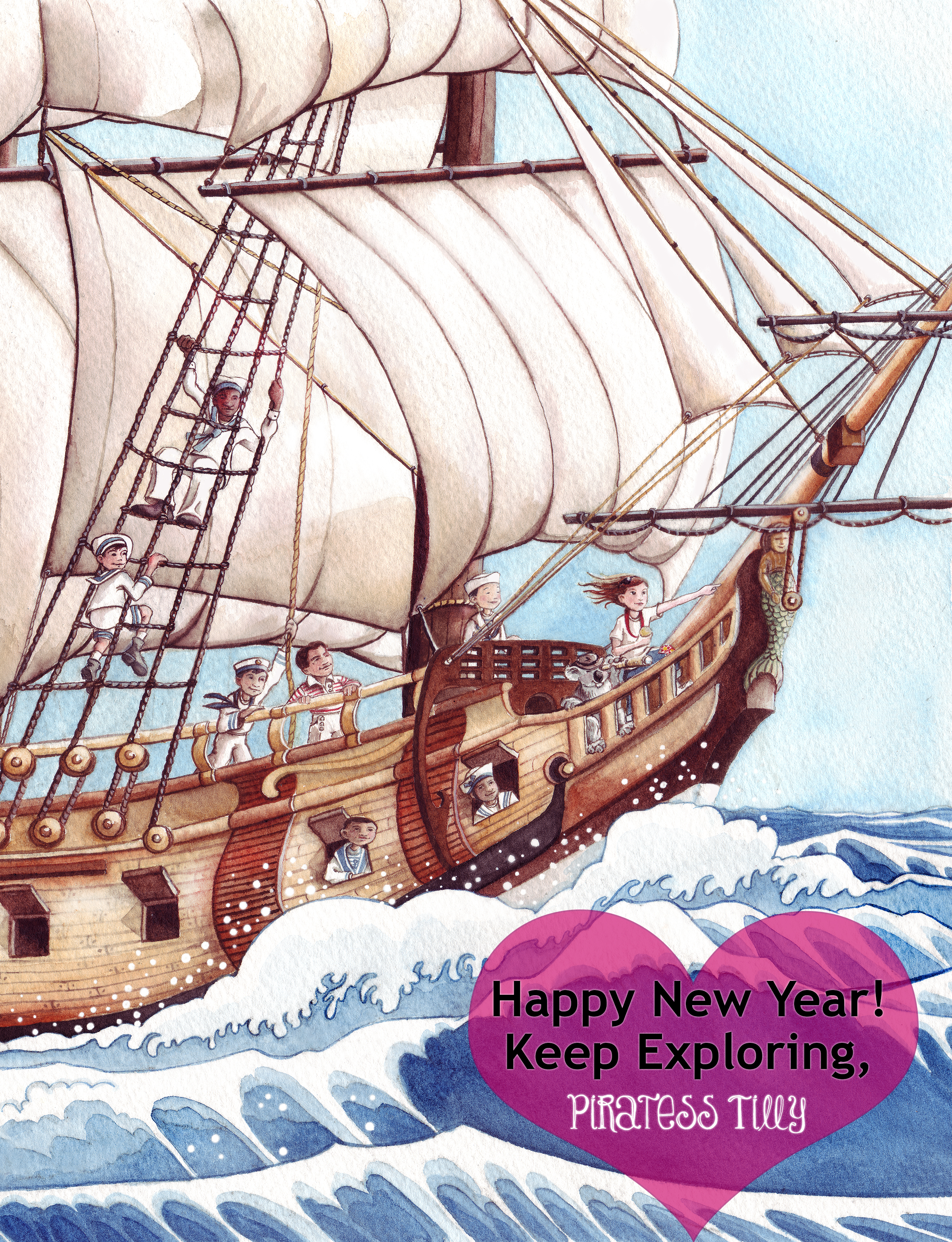 Happy New Year 2016 Piratess Tilly