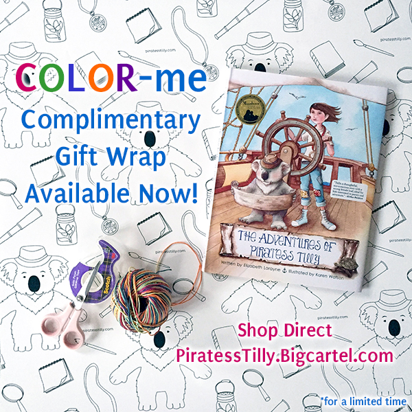 piratess tilly wrapping paper bundle social media