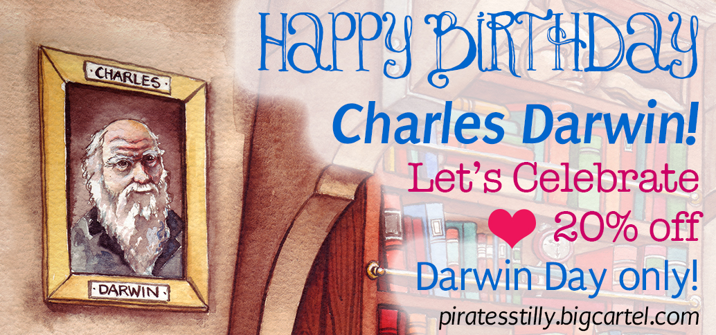 Charles Darwin Birthday Darwin Day Sale