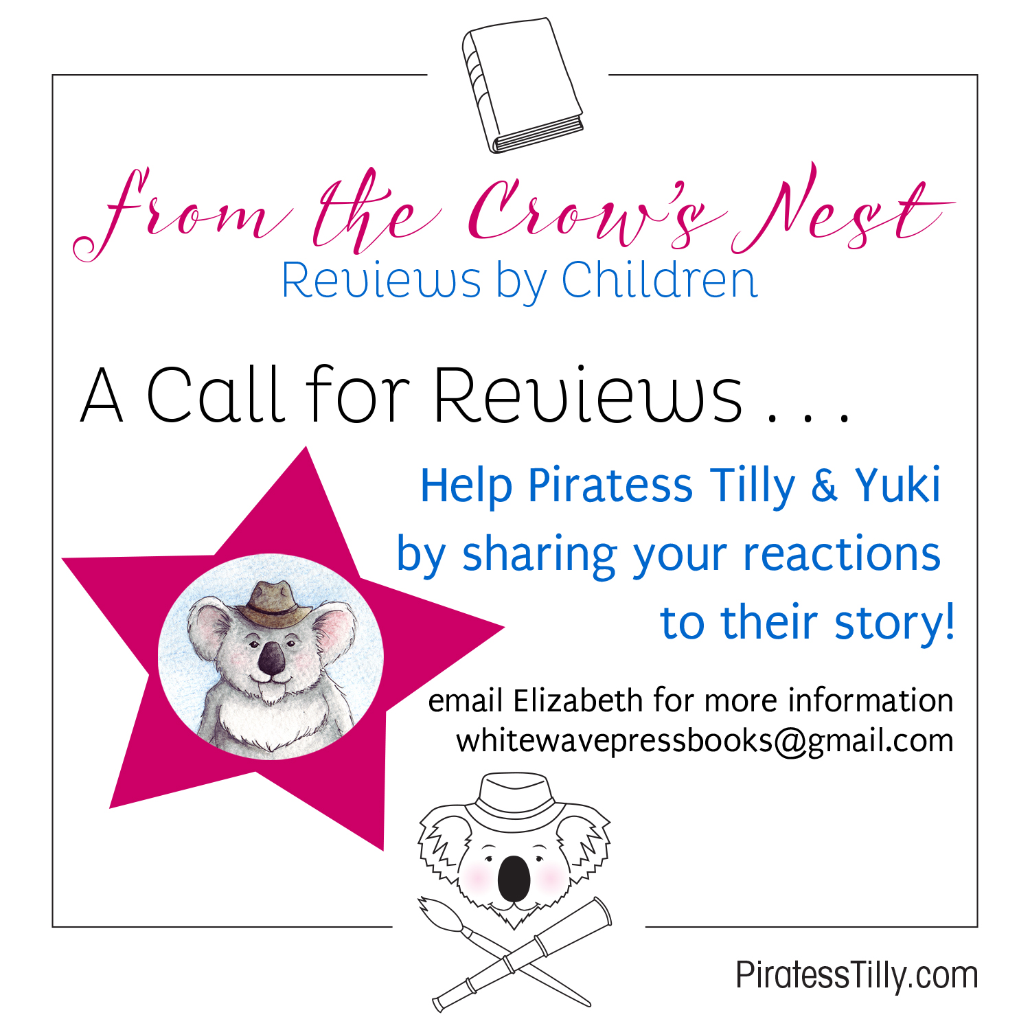 Piratess Tilly Call for Children's Reviews