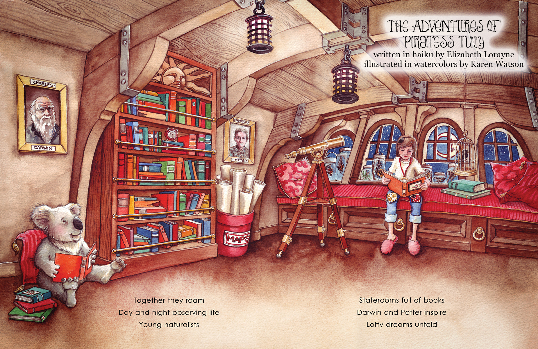 Piratess Tilly Potter and Darwin sample page