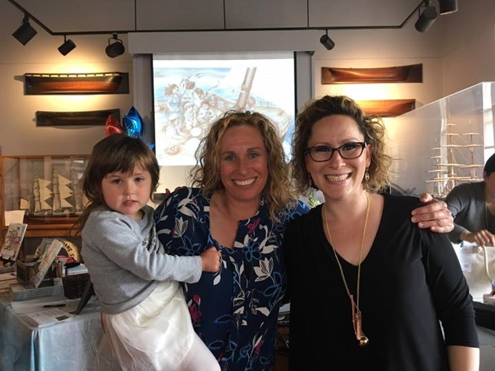 AUTHOR ELIZABETH LORAYNE WITH KASEY EDWARDS, CO-FOUNDER OF CURE SPG47 AND HER DAUGHTER, ROBBIE.