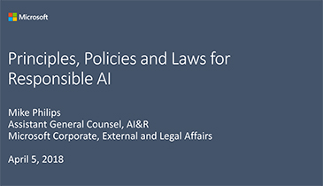 'Principles, Policies and Laws for Responsible AI'  by Mike Philips