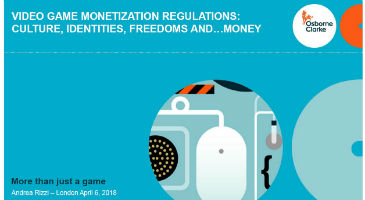'Video Game Monetisation Regulations: Culture, Identities, Freedoms... and Money'  by Andrea Rizzi