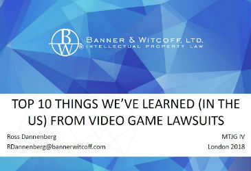 'Top 10 Things We've Learned (In The US) From Video Game Lawsuits' by Ross Dannenberg