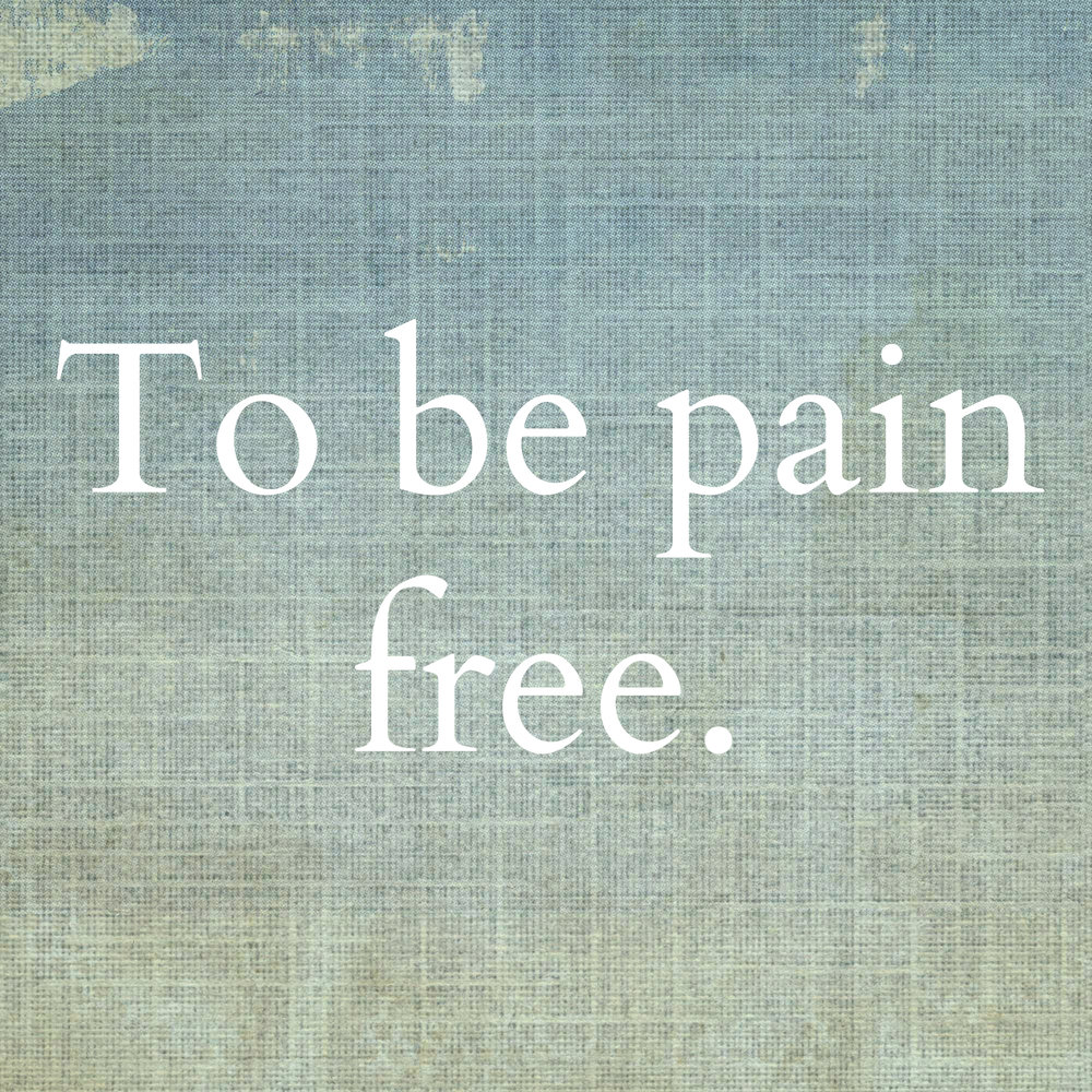 Tired of living in pain? We want to help you.