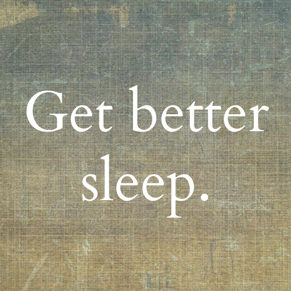 Not getting the sleep you need? We can help.