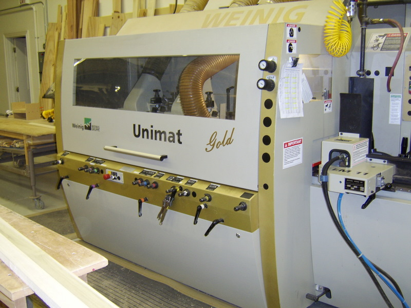 Weinig 6 head Unimat Molder    One of five German made Weinig machines, it has six cutterheads and plenty of horsepower to produce large moldings, handrails, or paneling.