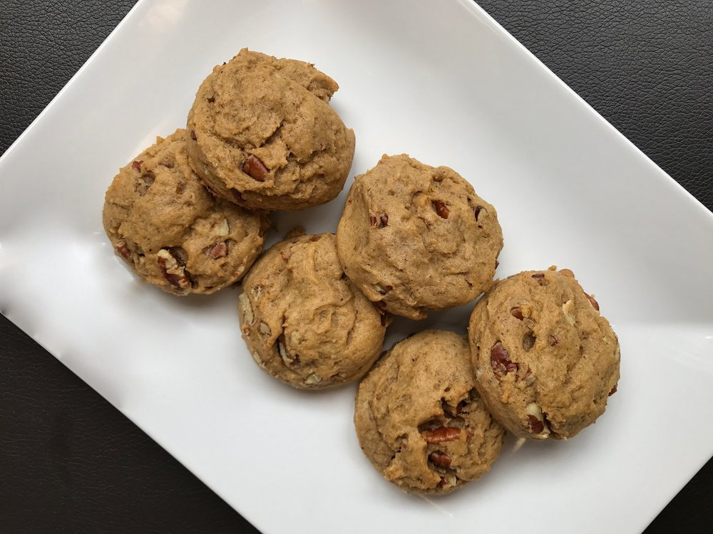 Chewy Pumpkin Pecan Cookies  All this cool Chicago weather has me more than ready for fall! Check out these pumpkin pecan cookies for your fall fix!