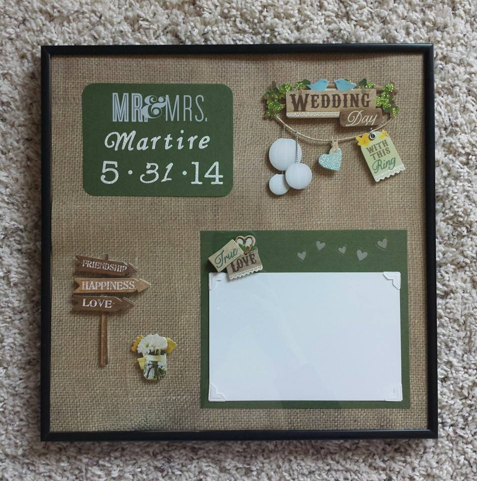 personalized picture frame bridal shower wedding gift