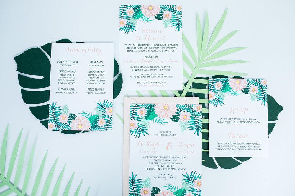 destination mexico wedding invitation