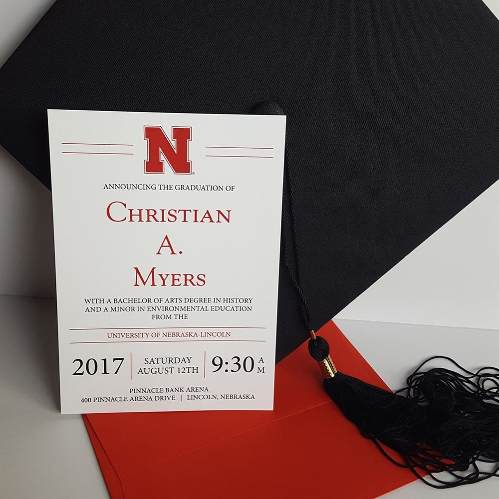 college graduation invitation